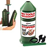 "Deluxe Squirrel-Raccoon Stopper 18""-""No Need to Take Down Pole Model- No Tool Install with Our Newest Design - Wrap Around Stopper - Stops Squirrels - Protect Bird Feeder Feeders"