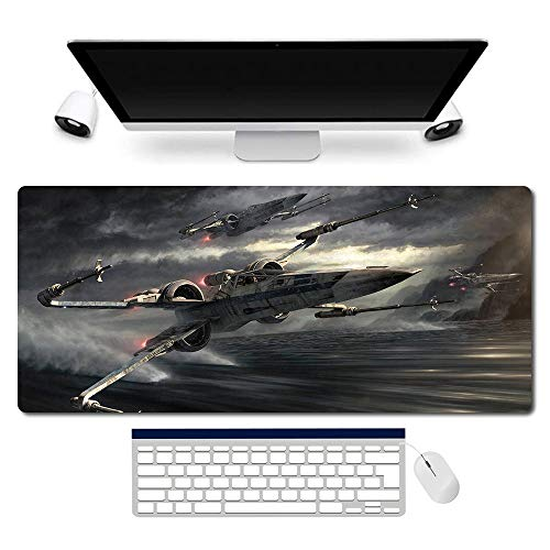 Star Wars Mouse Pad Large Gaming Mouse Pad Anime Keyboard Pad Table Mats Support Customized,Extended Mouse Mats Non-Slip Spill-Resistant Desk Pads (60x30,858603)