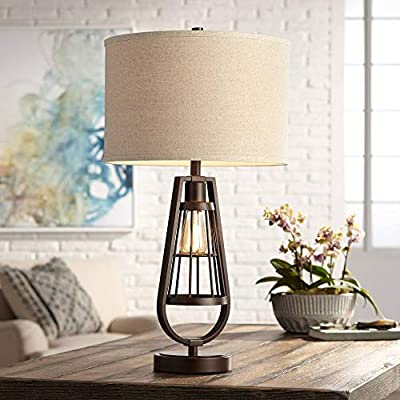 Topher Brown Metal Table Lamp with LED Night Light - Franklin Iron Works
