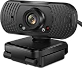 Webcam with Microphone 1080P HD Webcam USB 2.0 PC Desktop Laptop Computer Web Camera for Video Streaming Calling Recording Conference, Plug and Play