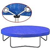 Festnight Trampolin Abdeckung Schutz vor Sonne, Regen und Schnee PE 450-457 cm 90 g/m²