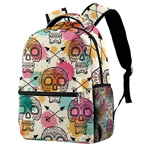 Vintage Skull Mexican Day of The Dead Backpack Students Shoulder Bags Travel Bag College School Backpacks