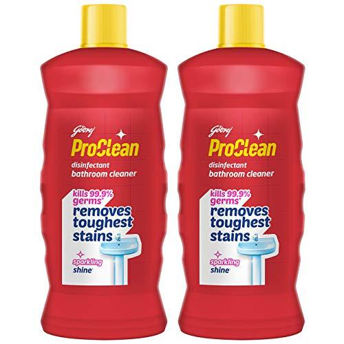 Godrej ProClean Disinfectant Bathroom Cleaner, 2L (Bundle) - Kills 99.9% Germs, Removes Tough Stains, Long-Lasting Fragrance