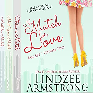 No Match for Love, Box Set - Volume Two: Strike a Match, Meet Your Match, Mistletoe Match audiobook cover art