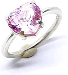 Prezioso anello con preziosa Tormalina Rosa taglio cuore misura 9 mm x 9,7 mm x 6,9 mm e 3,31 carati, realizzato interamen...