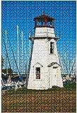 Rompecabezas de madera de 500 piezas Ponce Inlet Lighthouse ubicado en la ciudad de The Same, cerca de Daytona, rompecabezas de mesa divertidos y desafiantes, juguetes, regalo, decoración del hogar,