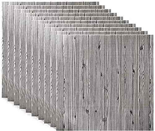 KUNYI Wandaufkleber 3D Backstein Wandplatten Aufkleber PE Schaum Selbstklebende Tapete Abnehmbare Wanddekoration (Color : Gray, Size : 30 Piece)
