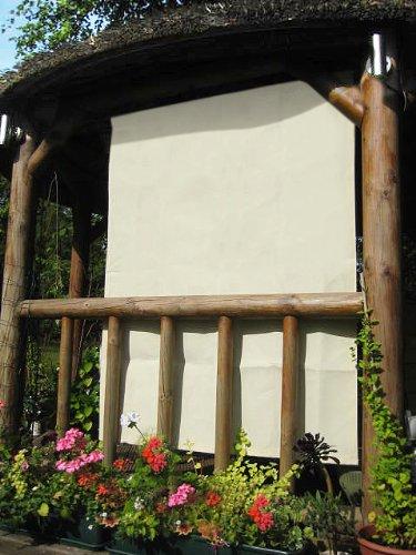 1, 6 m marfil rectangular pantalla para lámpara lateral para estructura de madera: Amazon.es: Jardín
