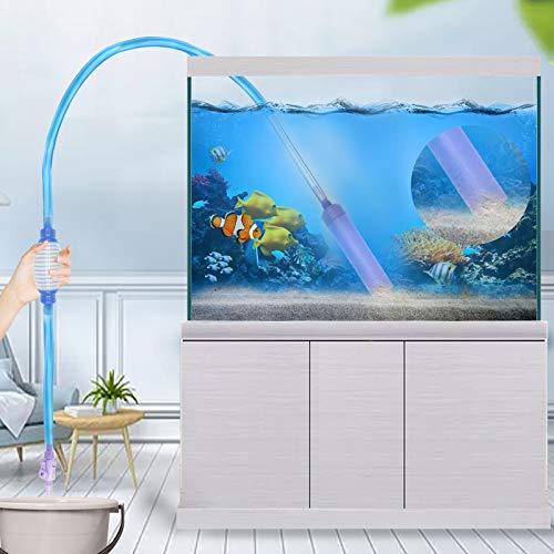 Fortune-star Aquarium Siphon Gravel Cleaner Water Changer with air Bag Aquarium Gravel Vacuum Cleaner Kit for Fish Tank Cleaner with Mini Net