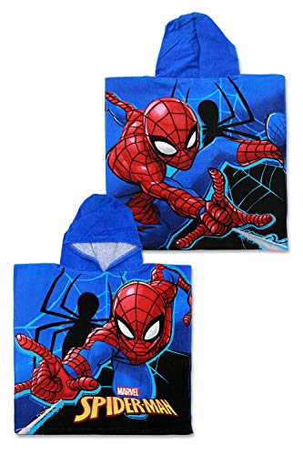 SETINO SP-H-PONCHO-30 Marvel Spider-Man Poncho de bain à capuche pour enfant 55 x 80 cm