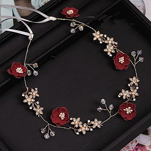 xuyang Encantadora flor azul rosa hecha a mano hilo joyería flexible suave...