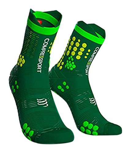 Compressport St3T2Gy Calcetines, Hombre, Verde, 2XL