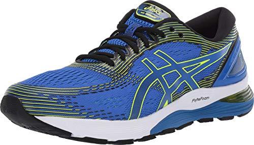 ASICS Gel-Nimbus 21 Platinum - Zapatillas de running para hombre, Azul (Illusion Blue/Black), 43.5 EU