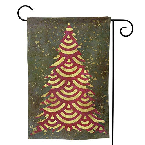 Ethereal Xmas Tree Garland Xmas Tree Garland Garden Flag,Vertical Double Sized,Outdoor Small Yard Lawn Flag,Yard Outdoor Decoration 28'X40'