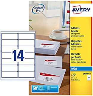 QuickDRY Quality White Matte Label Inkjet Printers 14 Labels Per A4 Sheet A4 Labels 14 Per Sheet iSOUL Self Adhesive Parcel Shipping Labels 700 labels on 50 Sheets