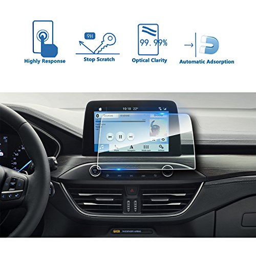 LFOTPP Ford Focus 8 Pollici Trapezoidale Navigazione Pellicola Protettiva in Vetro Temperato Screen Protector Film - 9H Antigraffio HD Alta Trasparente Glass
