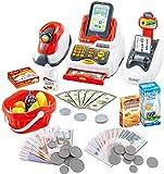 deAO Kit de supermarché avec Une Caisse enregistreuse avec Scanner, Une Carte de crédit, des...