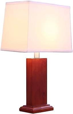 LOFAMI Madera decorativa lámparas de mesa, lámparas rústicas