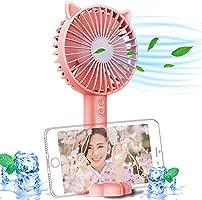 携帯扇風機 静音 小型 【3段階風量調整】手持ち扇風機 卓上扇風機 USB充電式 軽量