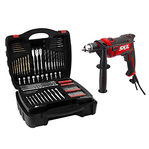 SKIL 7.5 Amp 1/2-Inch Corded Hammer Drill with 100pcs Drill Bit Set - HD182002