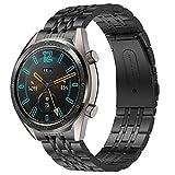 Supore Correa Compatible con Huawei Watch GT2 46mm/Watch GT 46mm/Watch GT Active/Watch 2 Pro/Honor Watch Magic/Galaxy Watch 46mm/Gear S3/Gear 2, Correa de Repuesto de Acero Inoxidable de 22 mm (B)