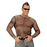 WIDMANN Sancto M / L Tamaño Mallas Negro Camisas de Traje de 80s Cine TV Vestido de Lujo