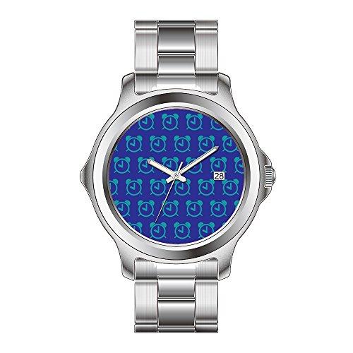 FDC Kerstmis Gift Horloges Vrouwen Mode Japanse Quartz Datum RVS Armband Horloge Alarm Klok paarse blues Polshorloges