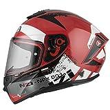 Casco de Moto Integral NZI Trendy Canadian Rojo (M)