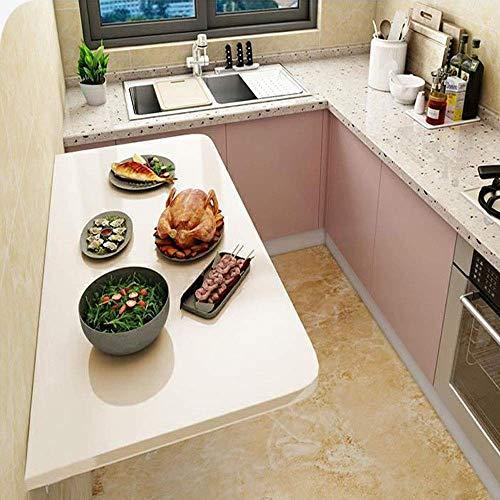 KAISIMYS Mesa de Cocina Plegable Mesa de Trabajo montada en la Pared Mesa de Comedor Plegable para Trabajo Pesado Escritorio de computadora Mesa Plegable de Hoja abatible para Colgar en la Pared, 50c