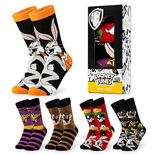 LOONEY TUNES Socken Herren, 5er Pack Herren Socken, Bunte Socken, Lustige Socken, 39-44