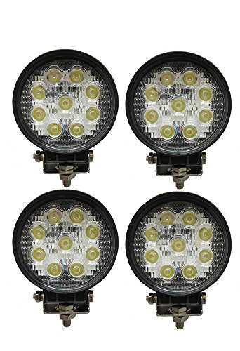 4 x Foco 27 W redondo foco LED de trabajo 9 led de profundidad coche Barco
