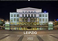 Leipzig - Fotografiert bei Nacht von Michael Allmaier (Wandkalender 2022 DIN A2 quer): Leipzig bei Nacht (Monatskalender, 14 Seiten )