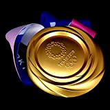 L-JING 1:1 Replica 2020/2021 Japan Olympic Olympics Golden/Silver/Bronze Medal with Ribbon,10.60oz,Large Size,Good Gifts for Athletes NUHUi (Golden)