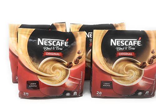 Nescafé 4 Packs 3-in-1 Original Premix Instant Coffee Single Serve Packets - Total 112 Sticks