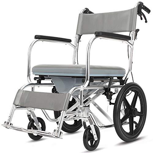 SSLL Handbike Lichtgewicht Rolstoel, Draagbare Transit Reisstoel, Lichtgewicht En Opvouwbaar Frame, Attendant-Propelled Rolstoel Met Remmen Voor Onafhankelijkheid Of Caretaker Gemak