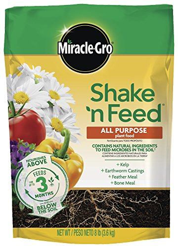 Miracle-Gro Shake 'N Feed All Purpose Plant Food, 8 lbs, Covers 320 sq. ft. - 3002010