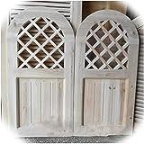 Puerta de copa de columpio, división decorativa interior Cintura media bisagra de acero inoxidable Cerrar automáticamente la entrada de la terraza del jardín ( Color : Natural , Size : 120x100cm )