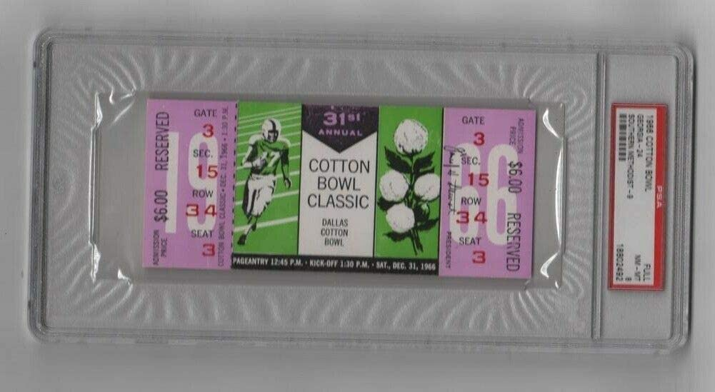 1966 Cotton Cheap Selling and selling sale Bowl Full Ticket Georgia SMU Highes 1 Mustangs Pop v