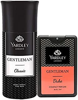 Yardley London Gentleman Classic Deodorant 150 ml with Yardley London Gentleman Duke Compact Perfume 18 ml