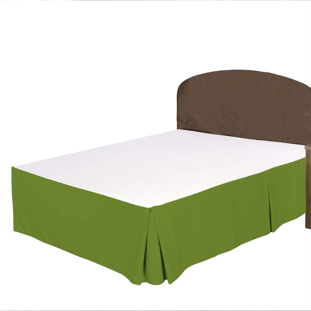 BRIGHTLINEN 1PCs Box Pleated Bed Green Skirt King Free shipping on posting reviews Directly managed store Cal Parrot