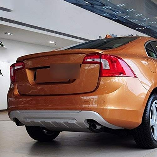 OLDJTK for Ala S60 Spoiler di Alta qualità Materiale ABS della Parte Posteriore dell'automobile di Colore Primer Spoiler Posteriore for T3T4 T5 S60L Spoiler 2012-2019 (Color : Platinum Copper 1pc)