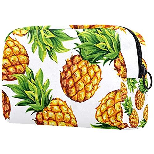 Islandtropical - Neceser de viaje con diseño de árbol de coco y fruta, ultra ligero, organizador de maquillaje, neceser para mujeres y niñas