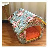 Aiglen Cama para mascotas Perrera de lona extraíble y lavable Casa para perros Suministros para mascotas Cama para mascotas Jaula para mascotas Alfombra de varios patrones Invierno suave