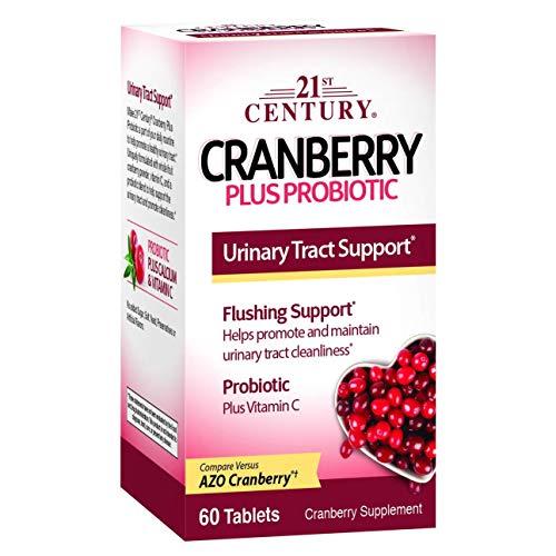 21st Century Cranberry plus Probiotic - 60 Tablets, Pack of 2