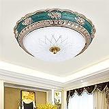 LEDlámpara de techo Luz de techo ligero a tres colores Dormitorio americano lámpara de techo estilo europeo estilo retro sala de pasillo luces mediterránea pasillo corredor entrada luz super brillante