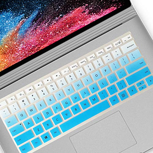 Keyboard Cover Design for 2020 Surface Book 3 13.5' 15' |2019 2018 Surface Book 2 1 13.5' 15' and 2018 Surface Laptop (NOT Fit for Surface Pro Model) -Gradual Blue