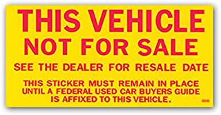 Best this vehicle is not for sale sticker Reviews