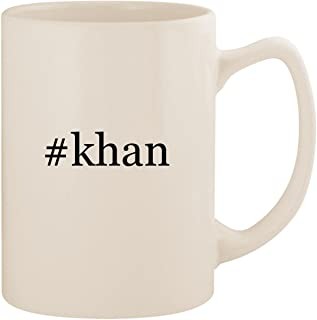 #khan - White Hashtag 14oz Ceramic Statesman Coffee Mug Cup