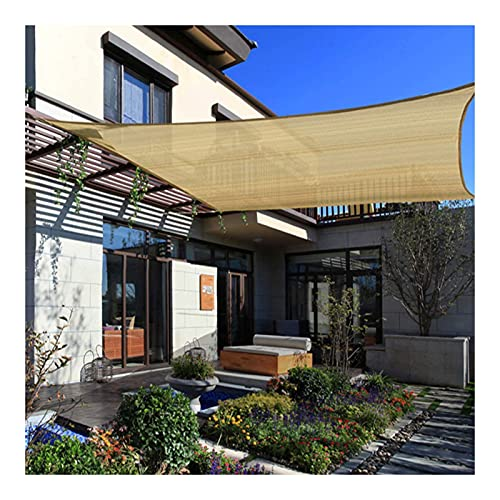 ZENGAI Toldo Los 2x2.5m, Anti-UV Multiuso 95% Vela De Sombra, Estacionamiento En El Patio con Terraza Al Aire Libre Red De Sombra, Personalizado (Color : Beige, Size : 4mx6m)