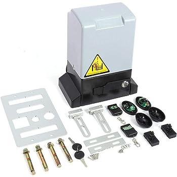 GOTOTP Kit de abridor de Puerta corredera automático Ajustable de 2000KG y 750w con Sonda de Sensor Infrarrojo Protección de la Temperatura Diseño de Apertura Manual (6 * 12 mm Rieles): Amazon.es: Hogar